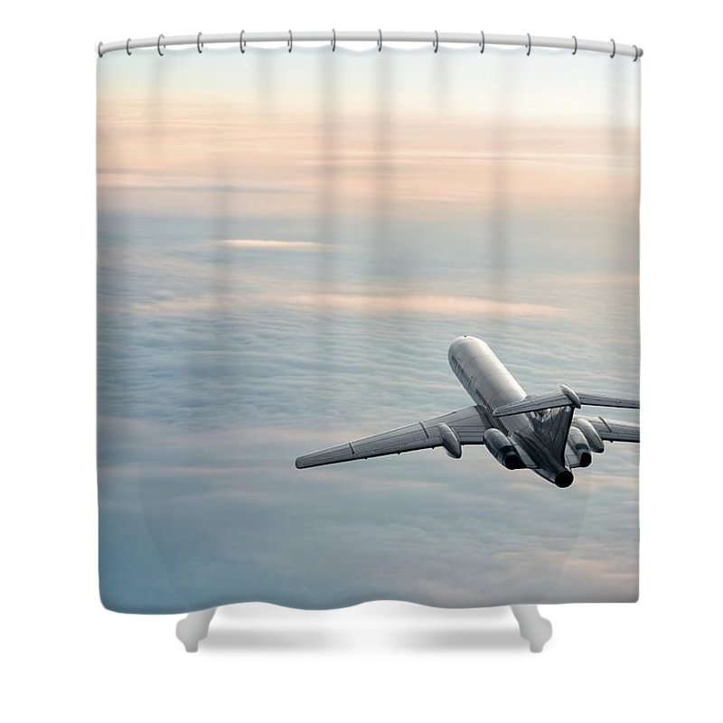 Scenics Shower Curtain featuring the photograph Sunrise Journey by Egorych