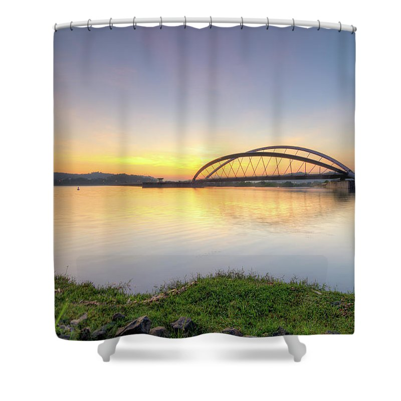 Tranquility Shower Curtain featuring the photograph Sunrise by Mohamad Zaidi Photography