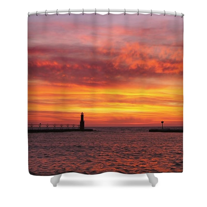 Lighthouse Shower Curtain featuring the photograph Sunrise Of Hope by Bill Pevlor