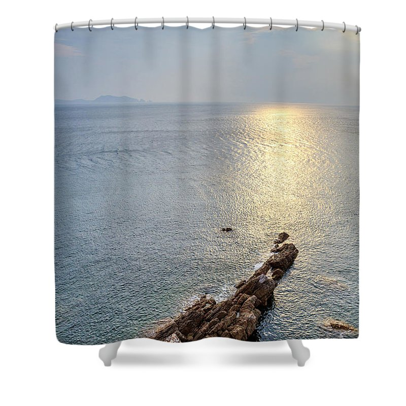 Scenics Shower Curtain featuring the photograph Sunrise Over The Coast Of Shenzhen by Feng Wei Photography