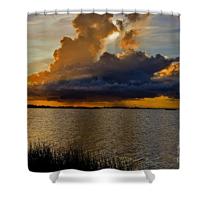 Sunrise Shower Curtain featuring the photograph Sunrise Rain by Scott Pellegrin
