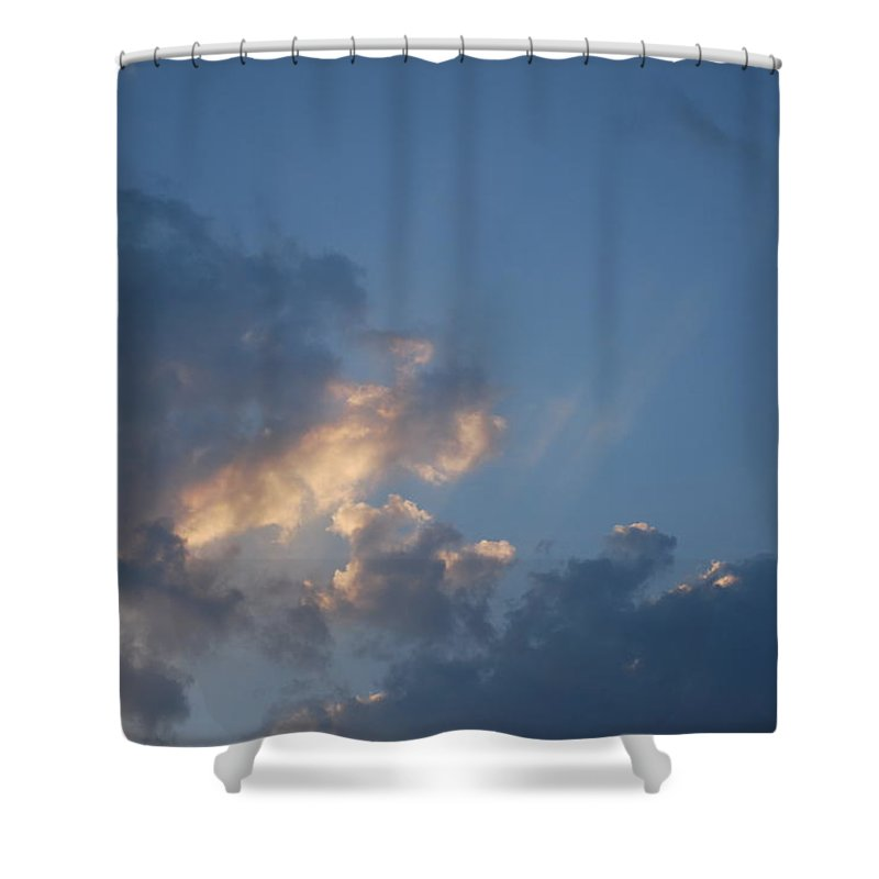 Suns Rays Shower Curtain featuring the photograph Suns Rays 1 by George Katechis