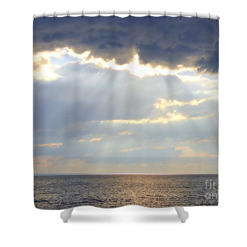 Nature Shower Curtain featuring the photograph Suns Rays by Rennae Christman