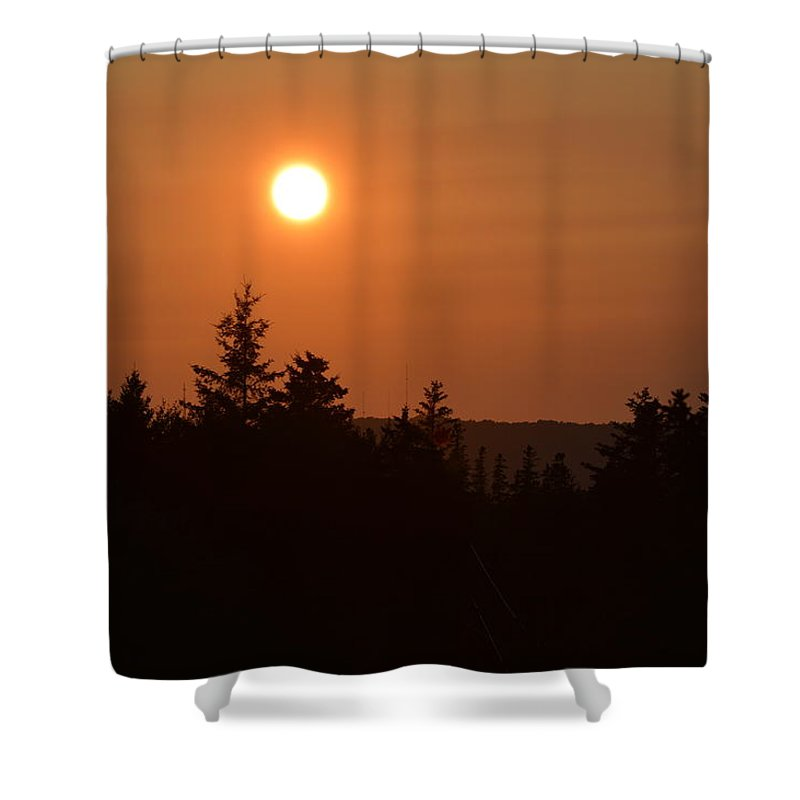 Sunset Shower Curtain featuring the photograph Sunset At Owl's Head by Chris Alberding