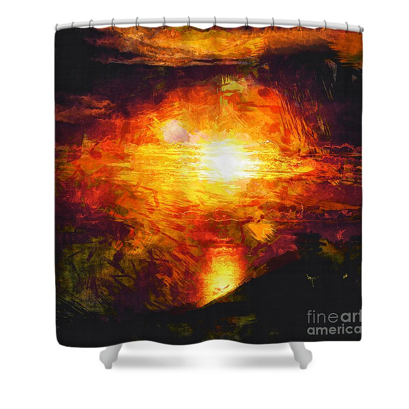 Sunset Shower Curtain featuring the photograph Sunset Glory by Davy Cheng