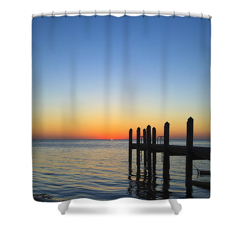 Bayfront Shower Curtain featuring the photograph Sunset In The Keys by Raul Rodriguez