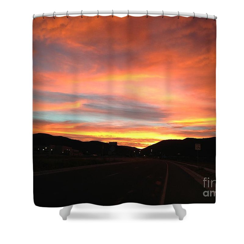 Sunset Shower Curtain featuring the photograph Sunset In The Southwest by LeLa Becker