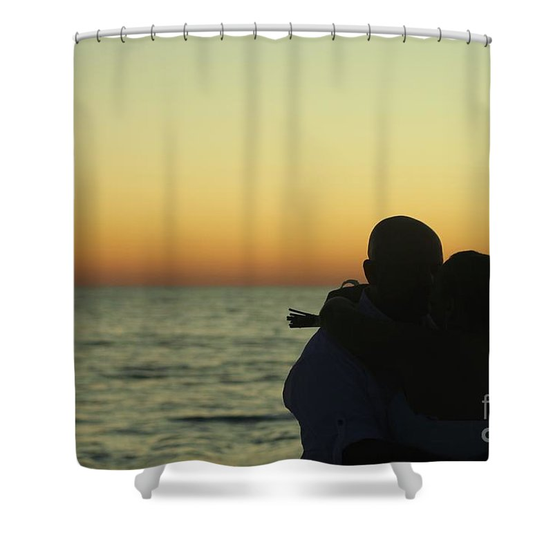 Sunset Shower Curtain featuring the photograph Sunset Kiss by Michelle Powell