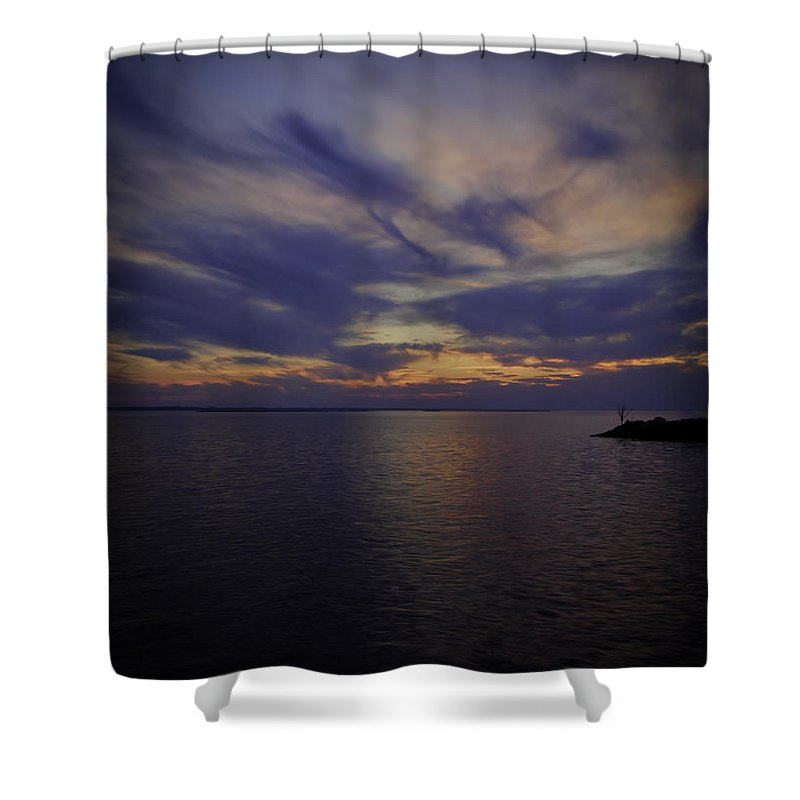 Lake Poygan Shower Curtain featuring the photograph Sunset On Lake Poygan 1 by Thomas Young