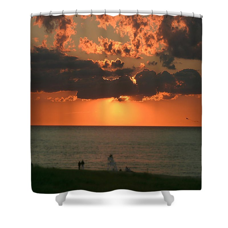 New England Shower Curtain featuring the photograph Sunset On Race Point Beach by Jeff Folger