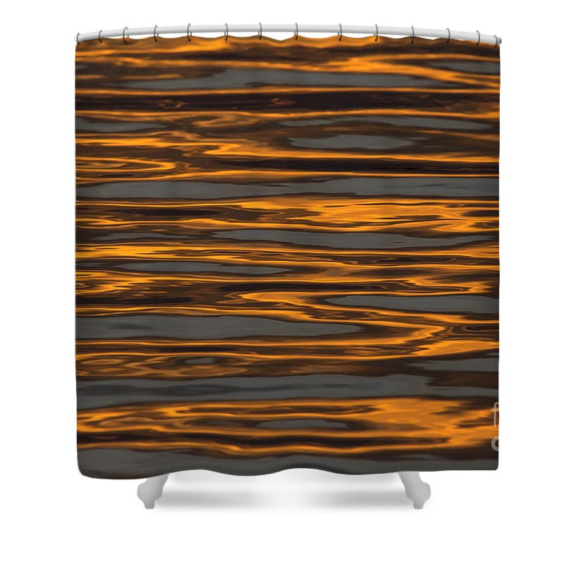 Sunset Shower Curtain featuring the photograph Sunset Reflections by Meg Rousher