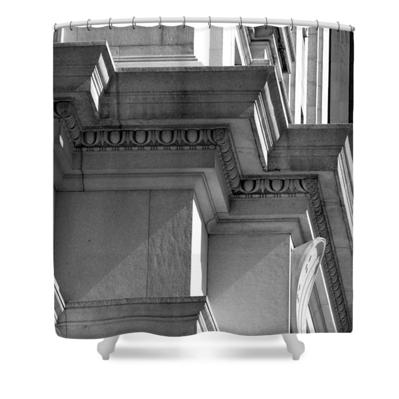 Black And White Shower Curtain featuring the photograph Sunset by Rob Hans