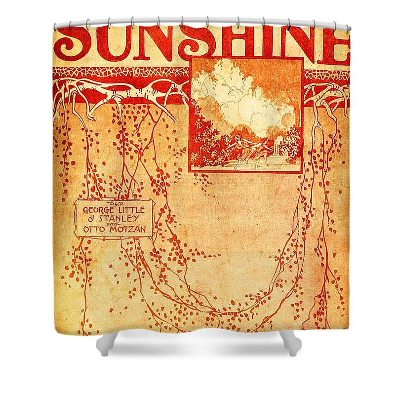 Nostalgia Shower Curtain featuring the photograph Sunshine by Mel Thompson