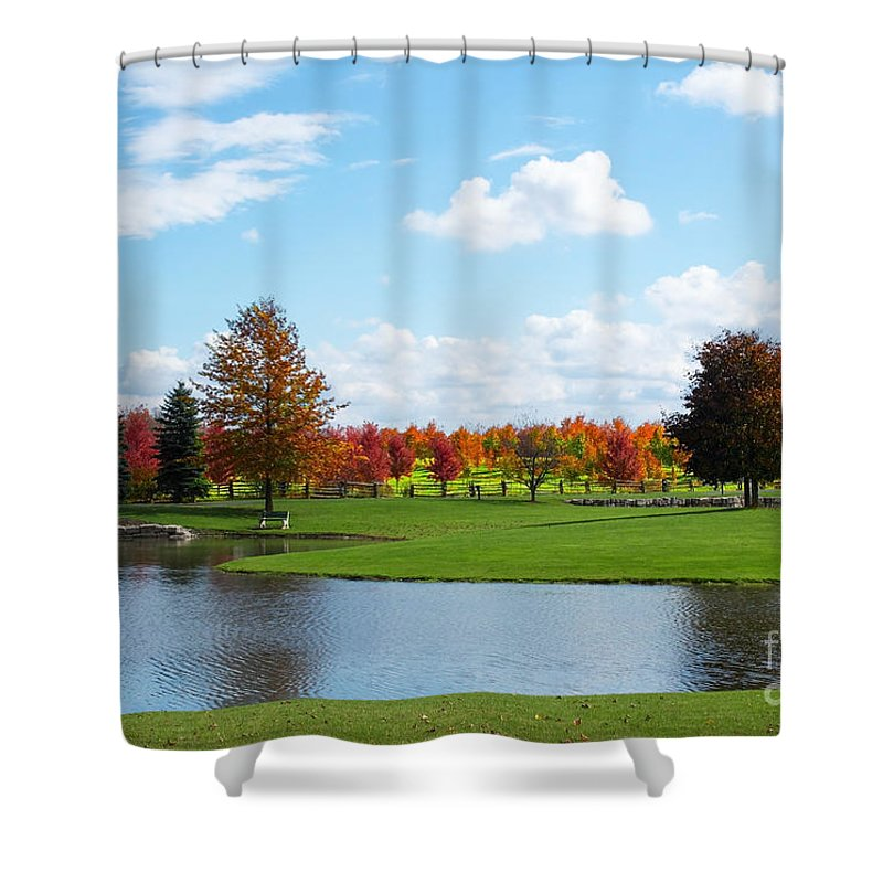 Scenery Shower Curtain featuring the photograph Sunshine On A Country Estate by Barbara McMahon