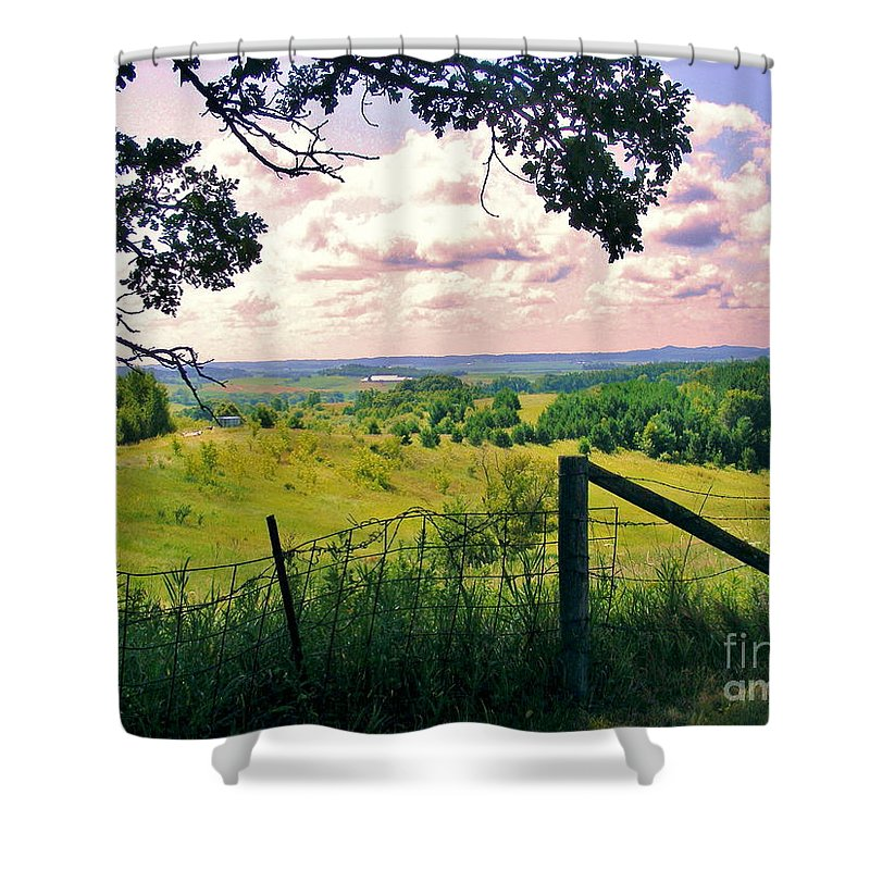Country Landscape Shower Curtain featuring the photograph Sunshine On The Meadow by Marilyn Smith