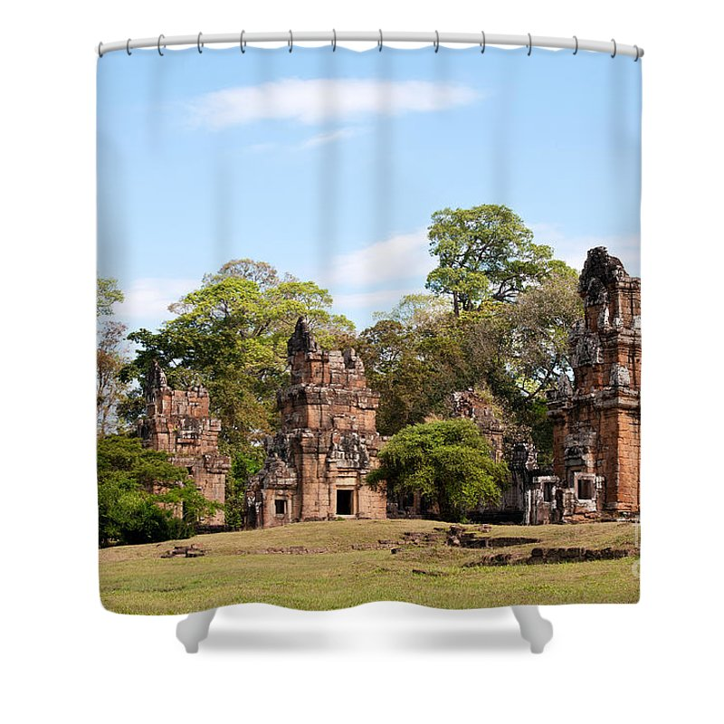 Suor Shower Curtain featuring the photograph Suor Prat Towers 02 by Rick Piper Photography