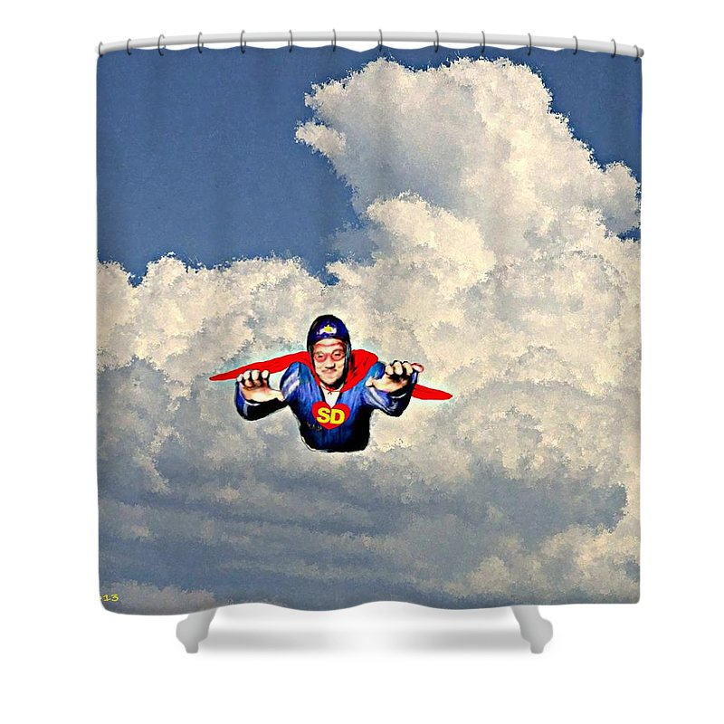 Super Shower Curtain featuring the painting Super David by Bruce Nutting