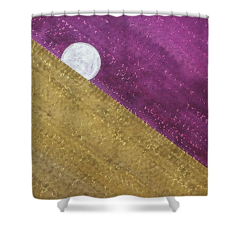 Moon Shower Curtain featuring the painting Supermoon Original Painting by Sol Luckman