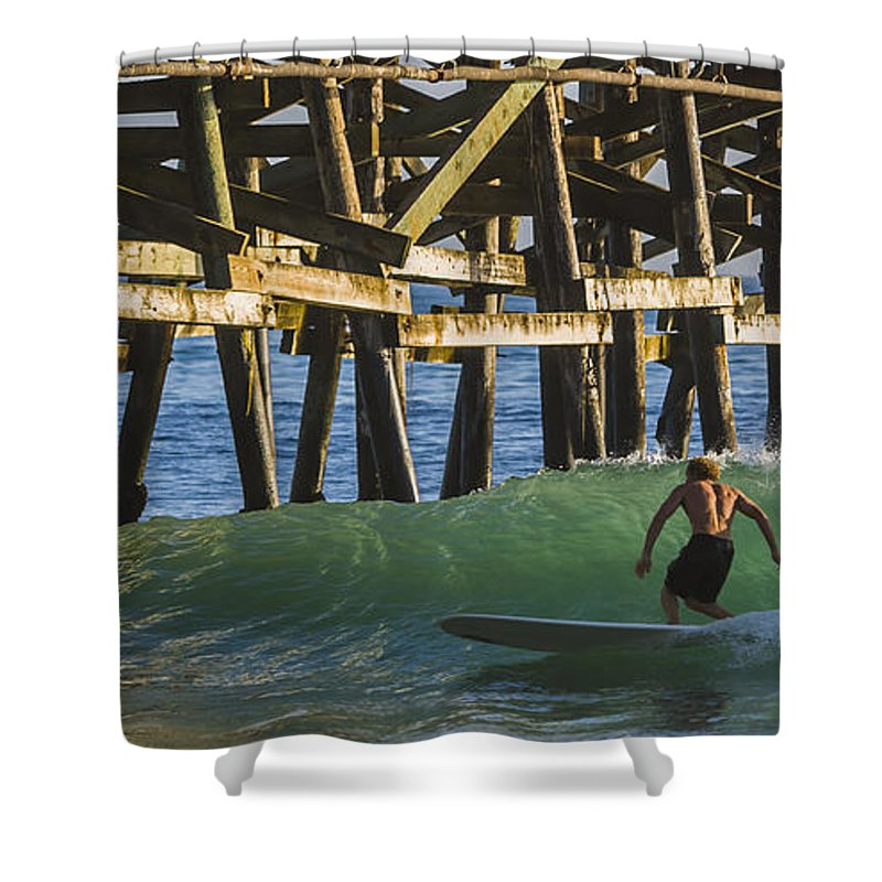 Surfer Shower Curtain featuring the photograph Surfer Dude 1 by Scott Campbell