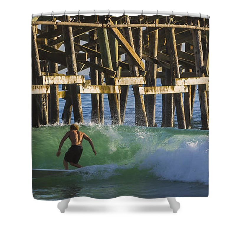 Surfer Shower Curtain featuring the photograph Surfer Dude 2 by Scott Campbell