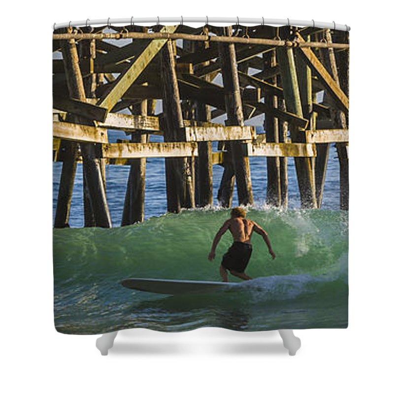Surfer Shower Curtain featuring the photograph Surfer Dude 3 by Scott Campbell