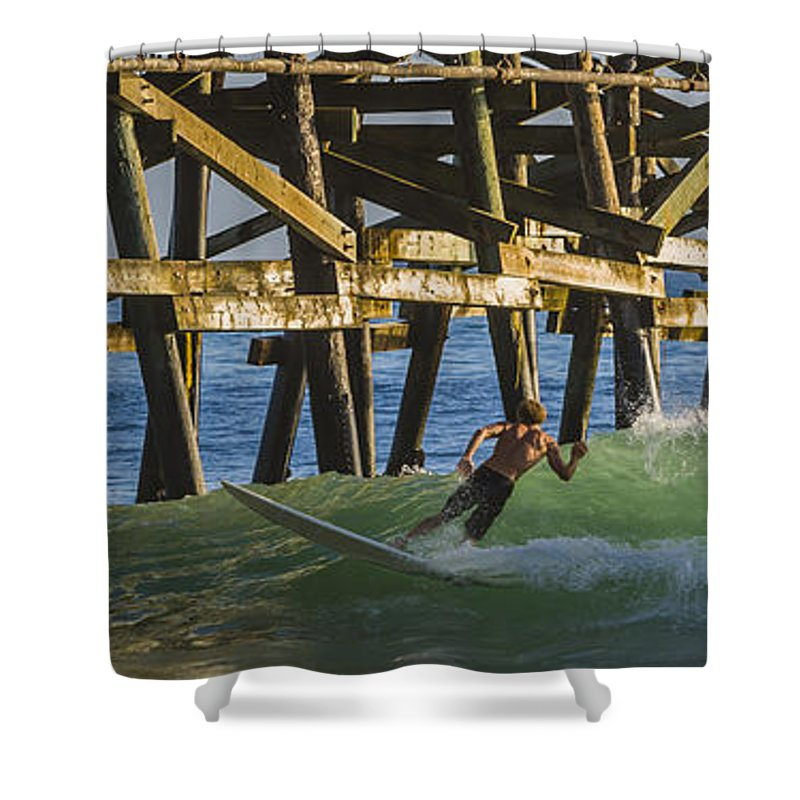 Surfing Shower Curtain featuring the photograph Surfer Dude 4 by Scott Campbell