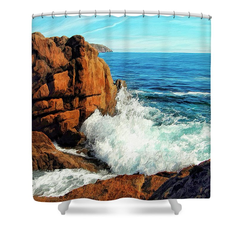 Surge Shower Curtain featuring the painting Surge by Dominic Piperata