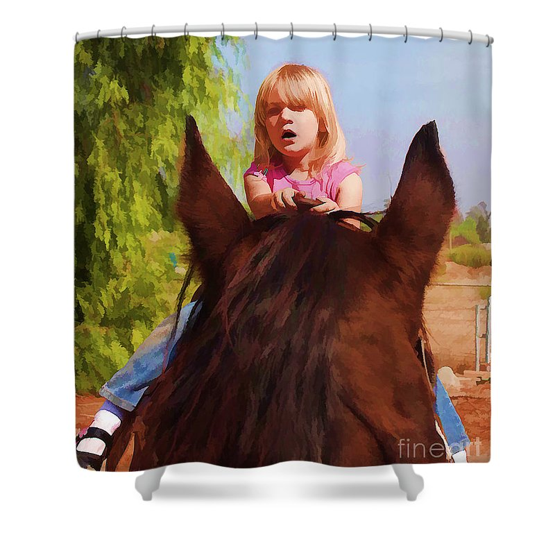 Children Shower Curtain featuring the photograph Surprise by Tommy Anderson