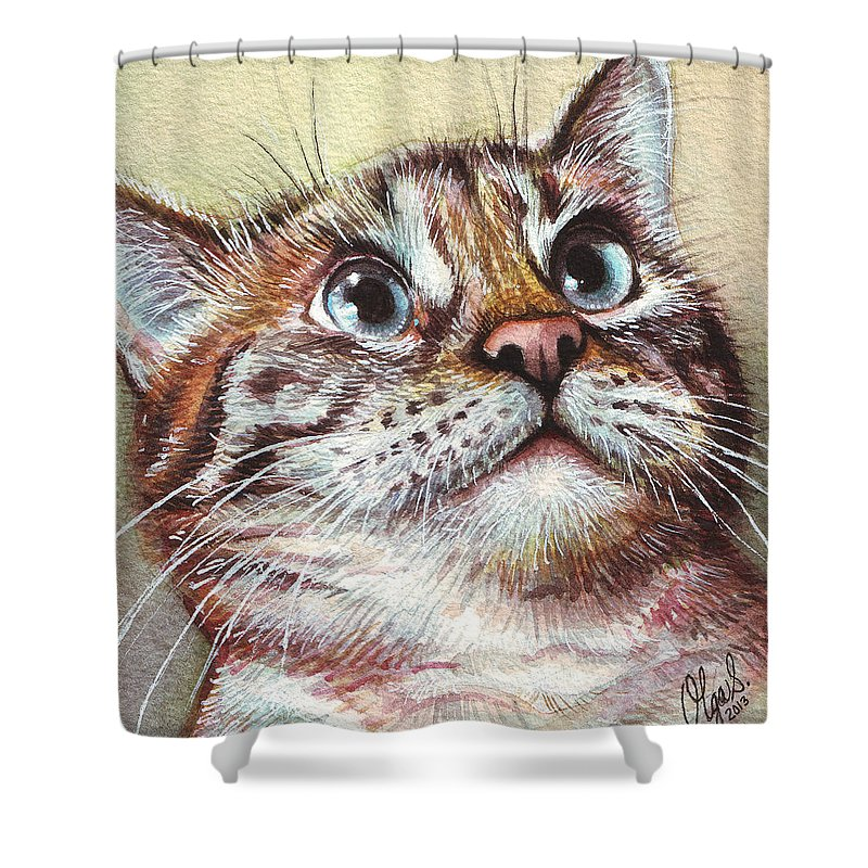 Watercolor Pet Portraits Shower Curtains