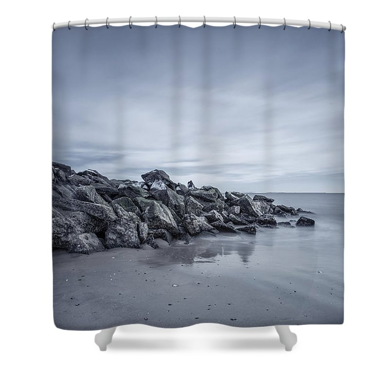 Brighton Beach Shower Curtain featuring the photograph Surrender To The Sea by Evelina Kremsdorf
