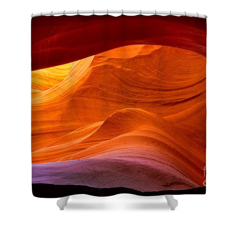 America Shower Curtain featuring the photograph Sweeping Swirls by Inge Johnsson