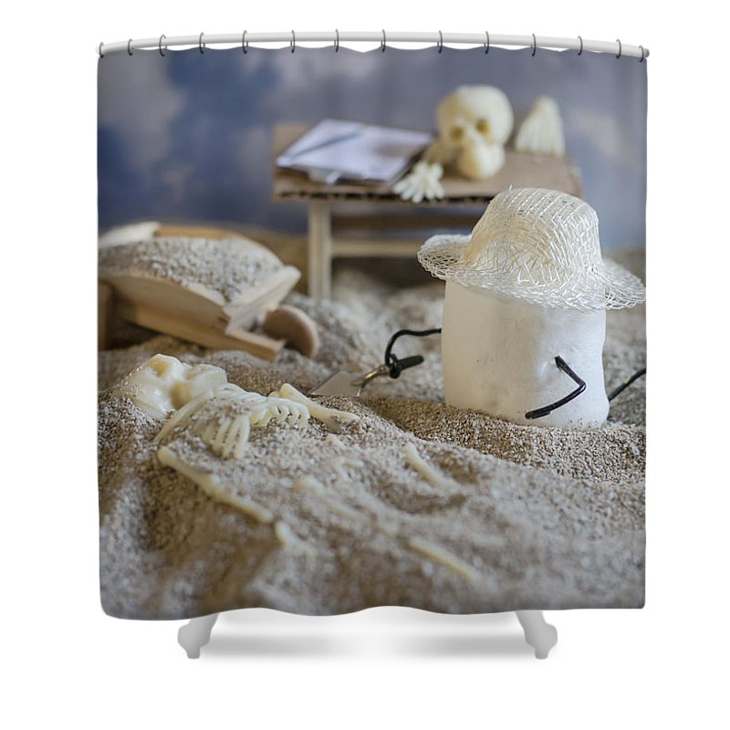 Paleoanthropologist Shower Curtain featuring the photograph Sweet Discovery by Heather Applegate