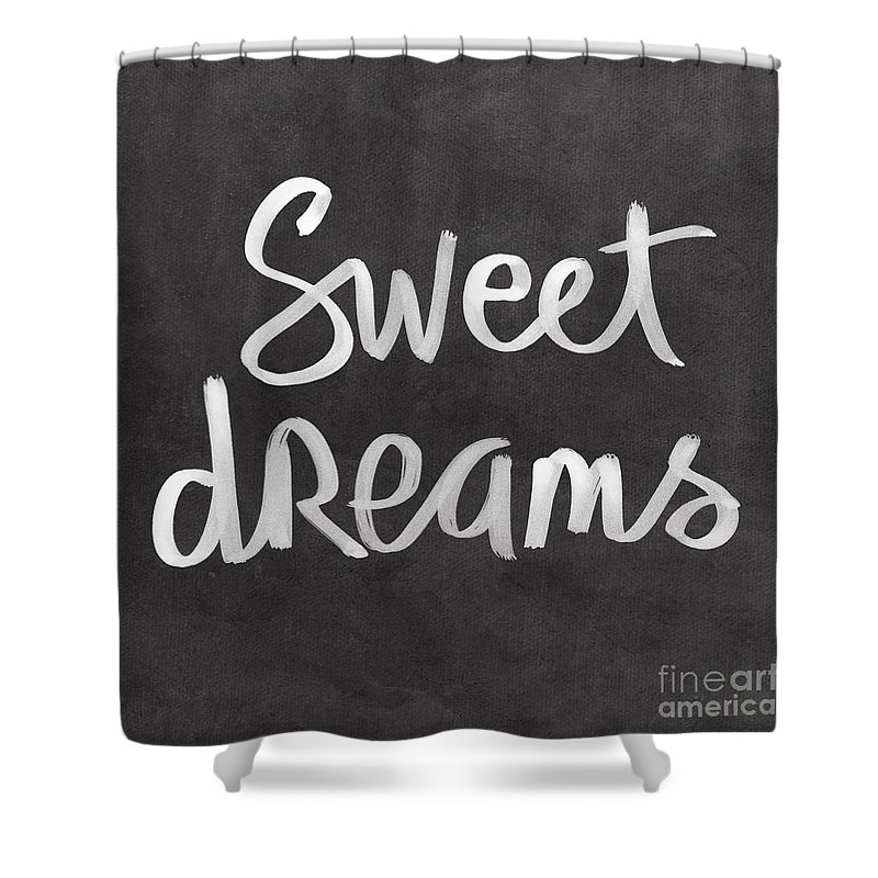 Dreams Shower Curtain featuring the mixed media Sweet Dreams by Linda Woods