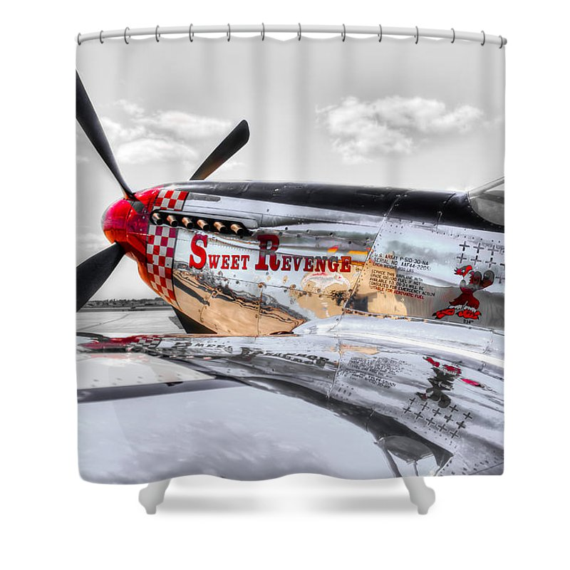 P-51d Mustang Shower Curtain featuring the photograph Sweet Revenge 3 by M Dale