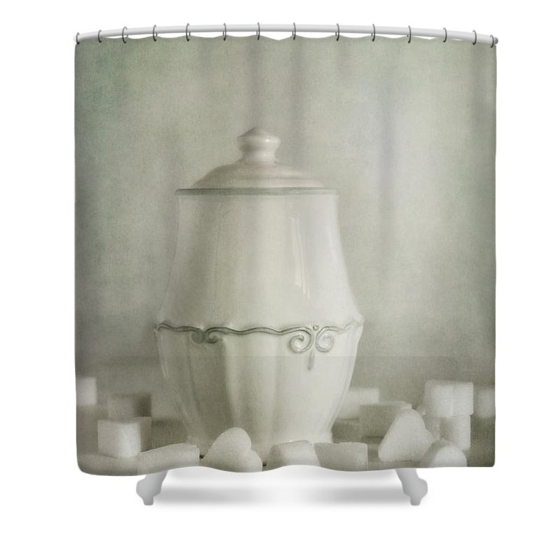 Sugar Shower Curtain featuring the photograph Sweetheart by Priska Wettstein