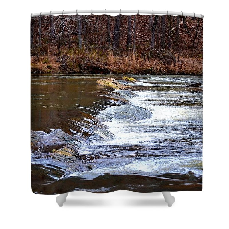 Sweetwater Creek State Park Shower Curtain featuring the photograph Sweetwater Creek by Tara Potts