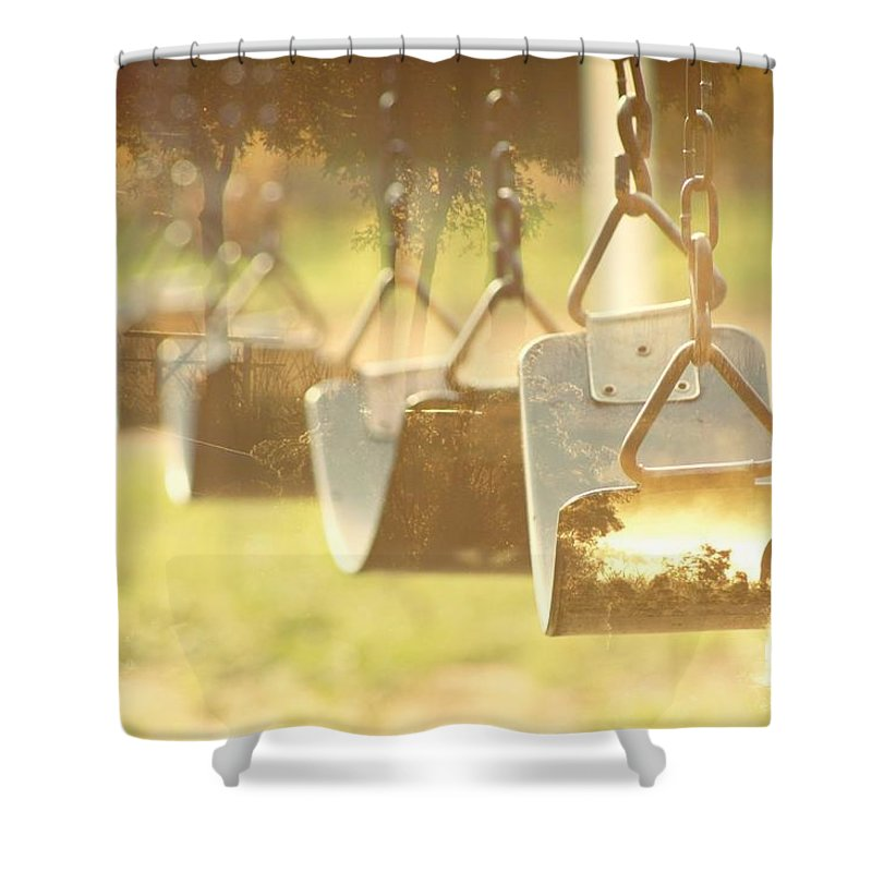 Swing. Nature Shower Curtain featuring the photograph Swing With Nature by Treesha Duncan
