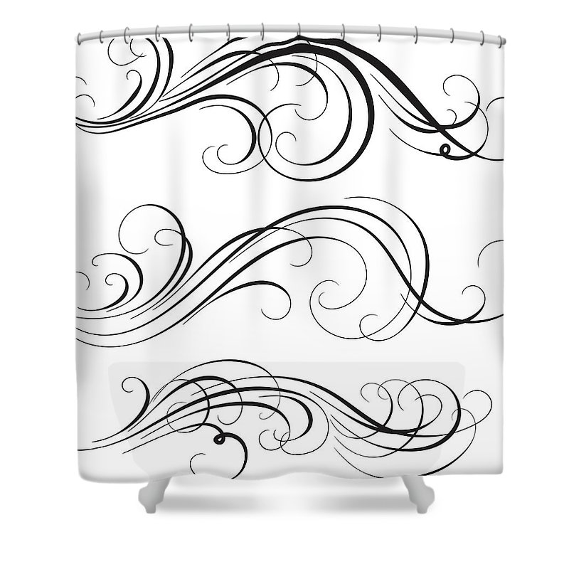 Curve Shower Curtain featuring the digital art Swirl by Mashuk