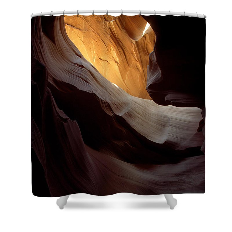 Slot Canyons Shower Curtain featuring the photograph Swopes by Kathy McClure