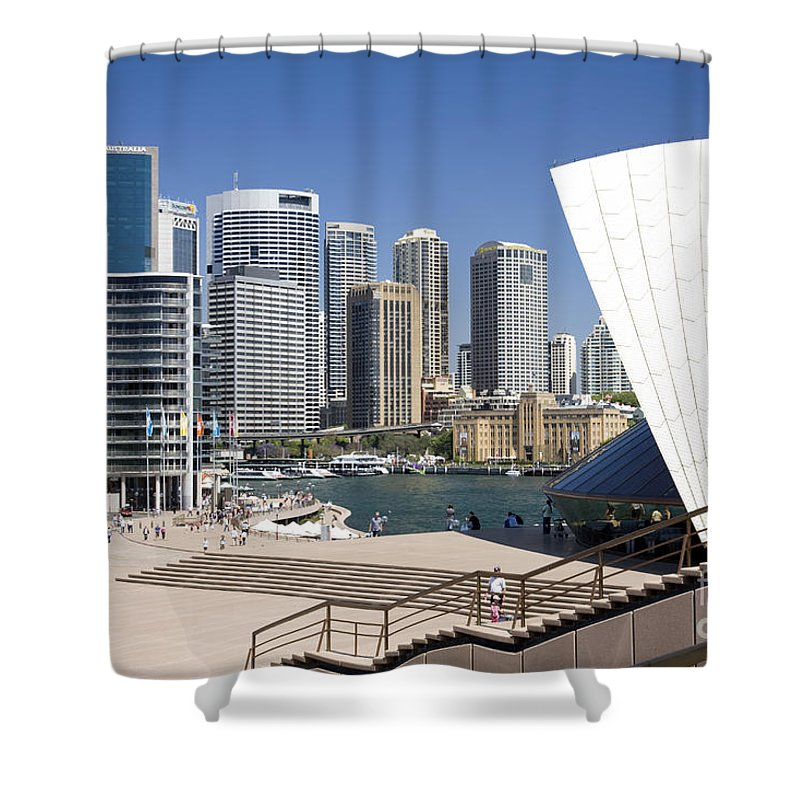 Sydney Opera House Shower Curtain featuring the photograph Sydney City Centre by Martin Berry