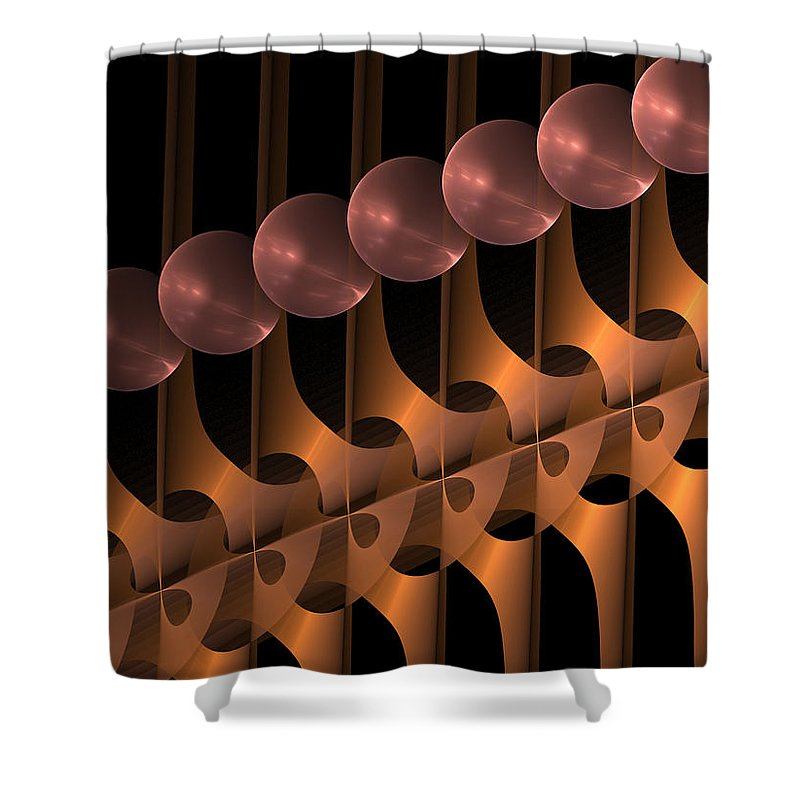 Abstract Shower Curtain featuring the digital art Symphony by Gabiw Art