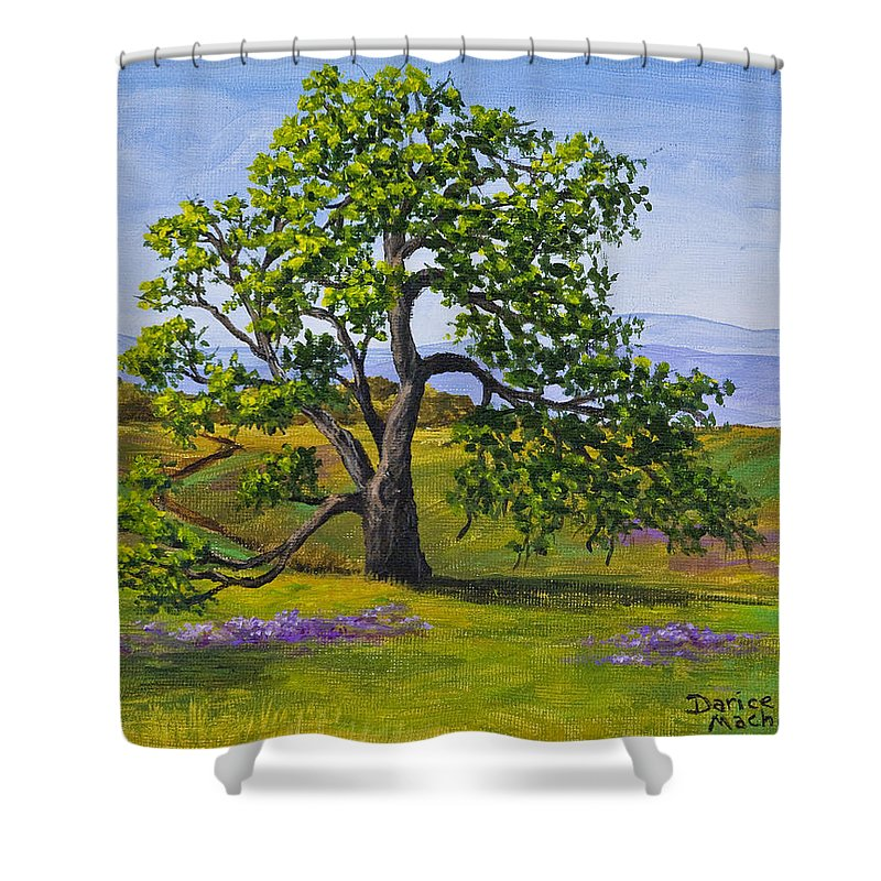 Table Mountain Shower Curtain featuring the painting Table Mountain by Darice Machel McGuire