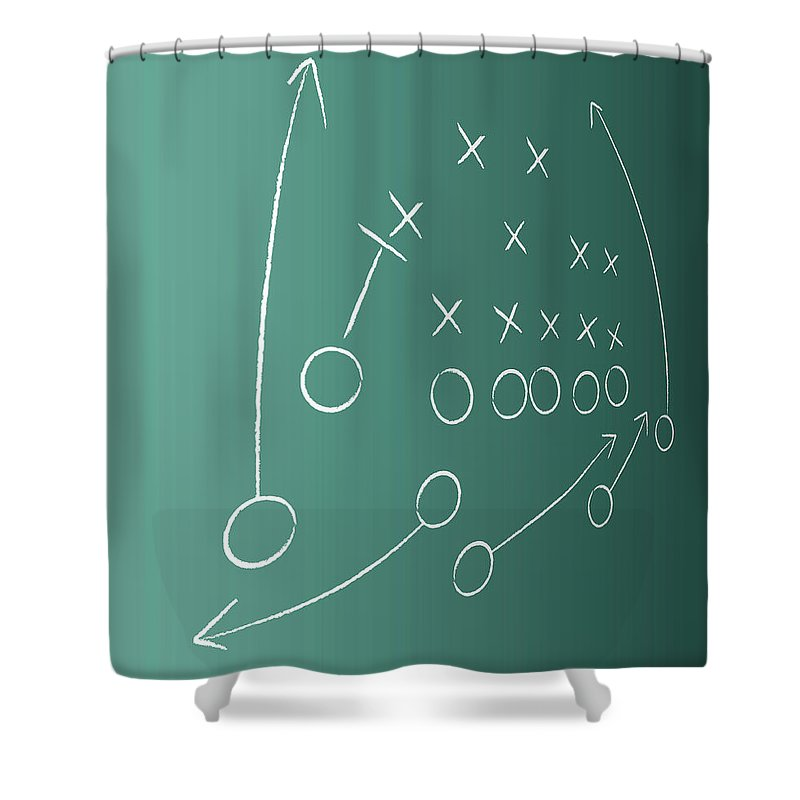Strategy Shower Curtain featuring the digital art Tactical Plan by Lvcandy