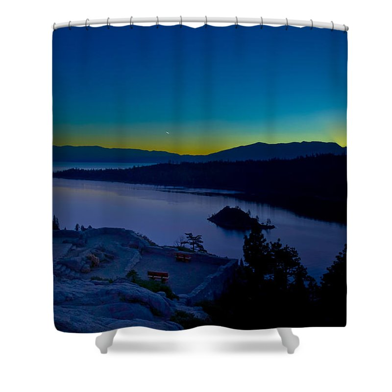 Lakes Shower Curtain featuring the photograph Tahoe Sunrise by Jim Thompson