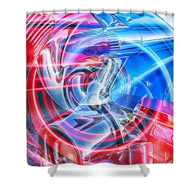 Cars Shower Curtain featuring the photograph Tail Light Abstract by Randy Harris