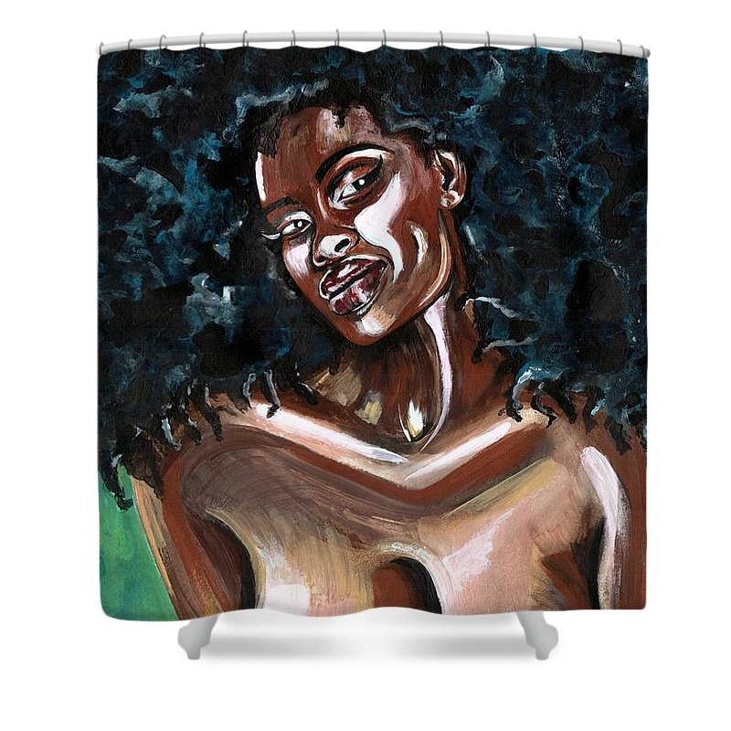 Sexy Shower Curtain featuring the photograph Take Me as I AM -or have nothing at all by Artist RiA
