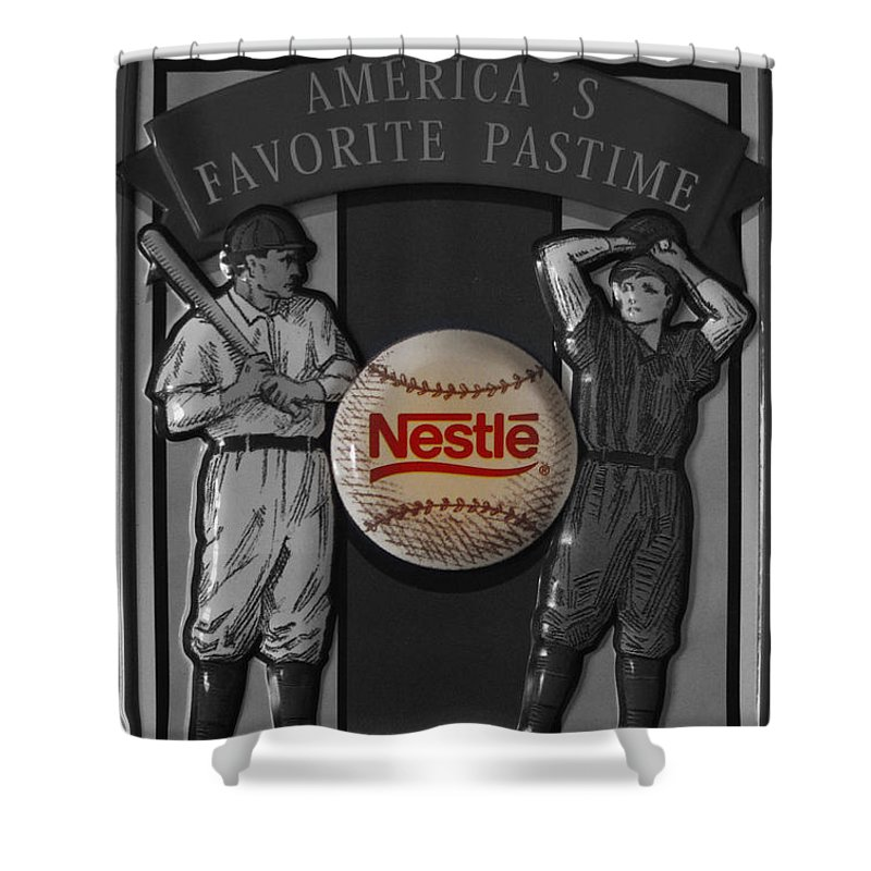 Baseball Shower Curtain featuring the photograph Take Me Out To The Ball Game by Janice Westerberg