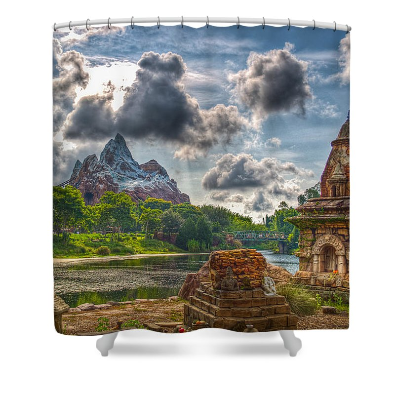 Everest Shower Curtain featuring the photograph Take The Train by Ryan Crane