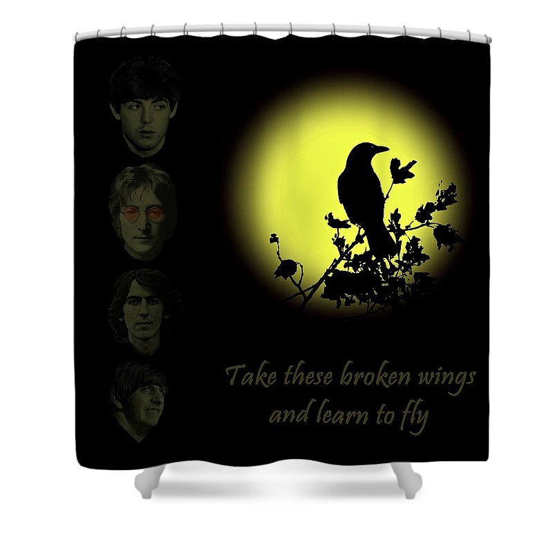 Blackbird Shower Curtain featuring the photograph Take These Broken Wings And Learn To Fly by David Dehner
