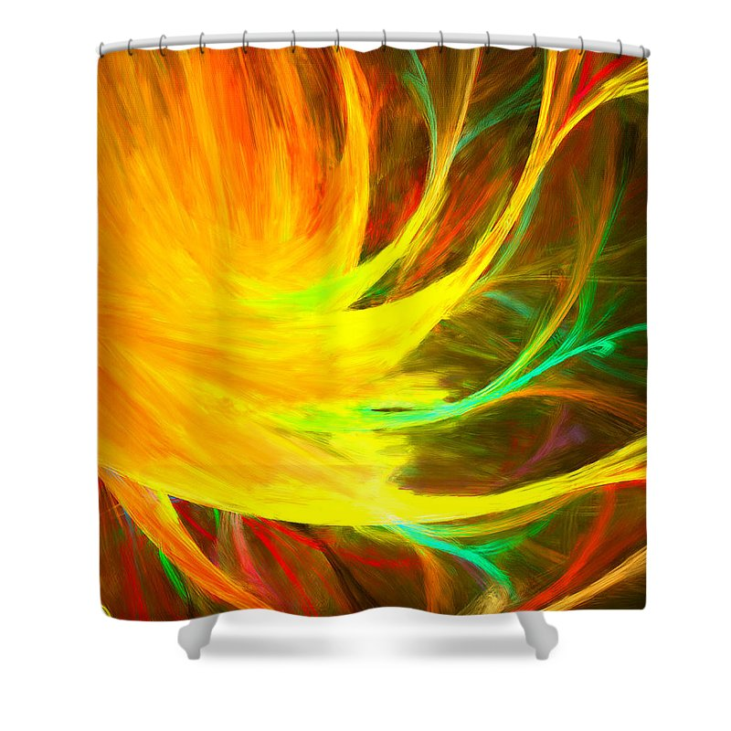 Colors Shower Curtain featuring the digital art Take You In by Lourry Legarde